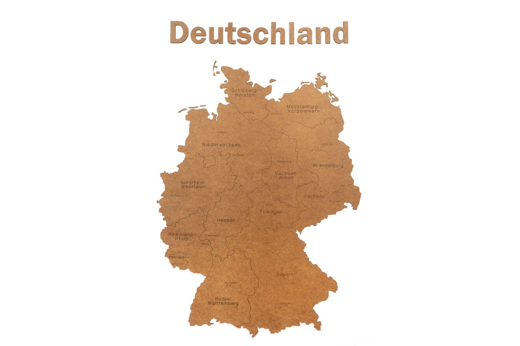 Deutschlandkarte Aus Holz Gunstig Kaufen